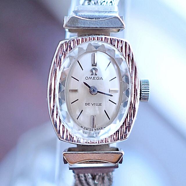 OMEGA - 美品♦️OMEGA K18WG 20μ スクエアカットガラス♦️トゥモローランドの通販 by Plumage❤︎antique watch|オメガならラクマ