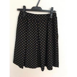 ハニーズ(HONEYS)のhoneys 黒×ベージュドットスカート(ひざ丈スカート)