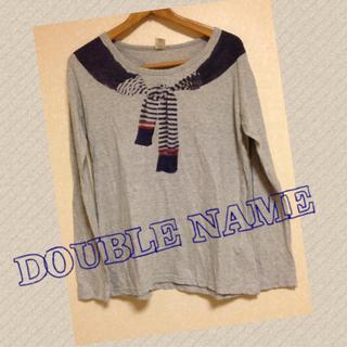 ダブルネーム(DOUBLE NAME)のだまし絵ロンT(Tシャツ(長袖/七分))