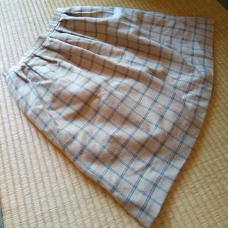 同梱なら50円 膝丈チェックスカート(ひざ丈スカート)