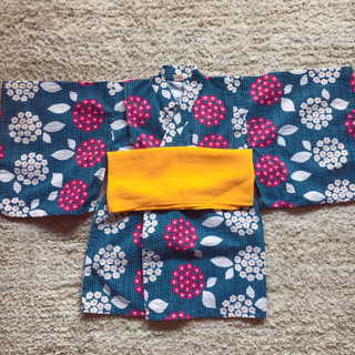 アンパサンド(ampersand)の浴衣ワンピース♡100cm(甚平/浴衣)