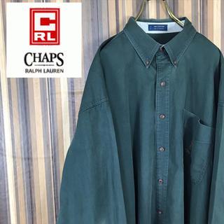 CHAPS - チャップス  ラルフローレン 長袖 BDシャツ ビッグシャツ 刺繍ロゴ 深緑