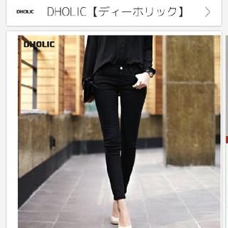 ディーホリック(dholic)のDHOLIC スキニーパンツ ブラック 黒パンツ(スキニーパンツ)