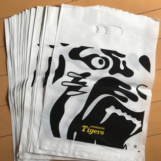 ハンシンタイガース(阪神タイガース)の未使用!阪神タイガース ショップ袋 25枚 白 ホワイト(応援グッズ)