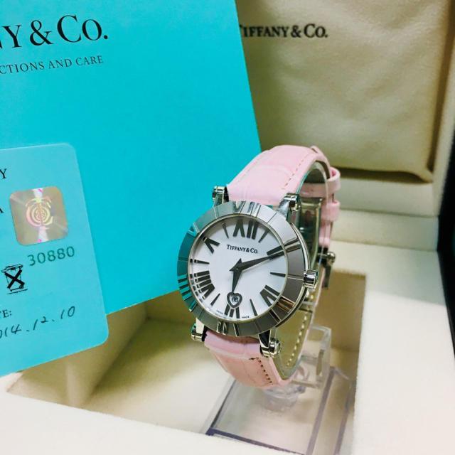Tiffany & Co. - 【確実正規品 備品】ティファニー 腕時計 アトラス ドーム 時計 ピンク ハートの通販 by 即購入okです^_^|ティファニーならラクマ