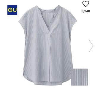 ジーユー(GU)のGU ストライプスキッパーシャツ(シャツ/ブラウス(半袖/袖なし))