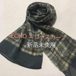 エコー(ECHO)の新品☆ECHO  シルク100%スカーフ  日本製 40×146(バンダナ/スカーフ)