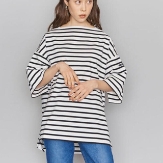 アメリカーナ(AMERICANA)のアメリカーナAMERICANA ボーダーワイドTシャツ(Tシャツ(長袖/七分))