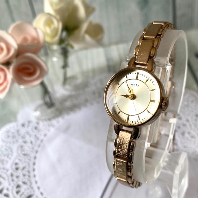 agete - 【電池交換済み】agete アガット 腕時計 1706 GP ゴールドの通販 by soga's shop|アガットならラクマ