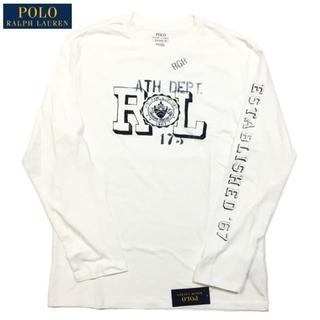 ポロラルフローレン(POLO RALPH LAUREN)のSALE M 白 新品 ラルフローレン ロンT RL プリント 長袖Tシャツ(Tシャツ/カットソー(七分/長袖))