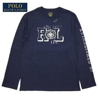 ポロラルフローレン(POLO RALPH LAUREN)のSALE M 紺 新品 ラルフローレン ロンT RL プリント 長袖Tシャツ(Tシャツ/カットソー(七分/長袖))