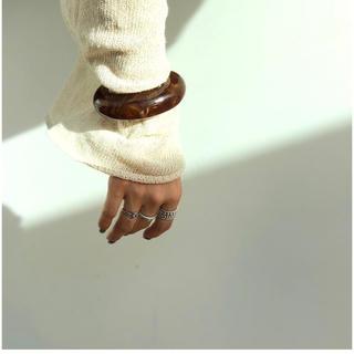 トゥデイフル(TODAYFUL)のTodayful  clear wide bangle(ブレスレット/バングル)