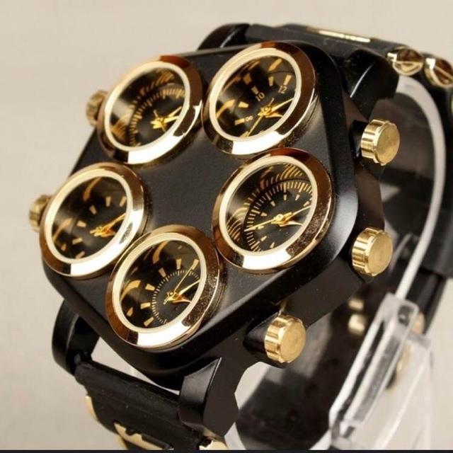 ☆レア☆ビッグダイヤル  5ダイヤル 海外ブランド メンズ 高級 腕時計の通販 by きゆみ|ラクマ