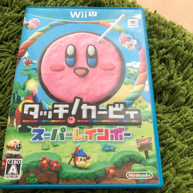 Wii U(ウィーユー)のタッチ!カービィ スーパーレインボー エンタメ/ホビーのゲームソフト/ゲーム機本体(家庭用ゲームソフト)の商品写真