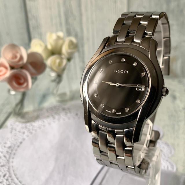 Gucci - 【電池交換済】GUCCI グッチ 5500M 腕時計 メンズ 11P ブラックの通販 by soga's shop|グッチならラクマ