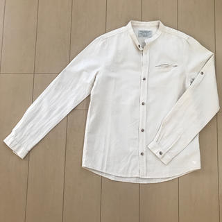 ザラ(ZARA)のZARA KIDS  コットンリネン 2way シャツ 150cm(ブラウス)