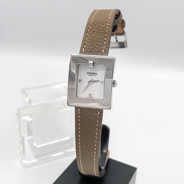 Hermes - 【仕上済/ベルト二色付】エルメス スクエア シルバー レディース 腕時計の通販 by LMC エルメスならラクマ