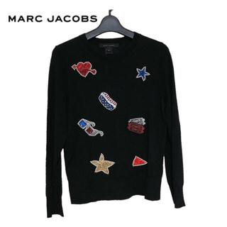 マークジェイコブス(MARC JACOBS)の【新品】MARC JACOBS スパンコール×ワッペン ニット(ニット/セーター)