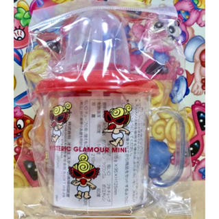 ヒステリックミニ(HYSTERIC MINI)のヒスミニ☆新品☆ストローマグ☆赤☆蓋☆キャップ付き☆コップ☆プラカップ(マグカップ)