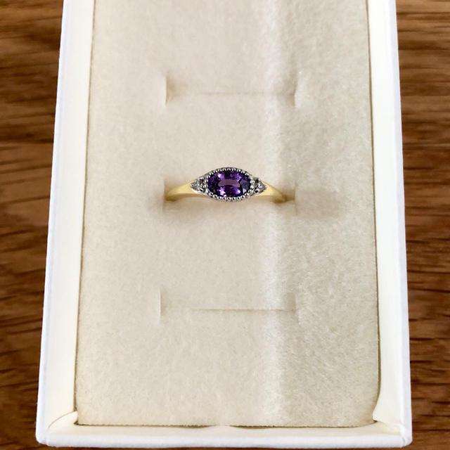 値下げ↓パープルサファイア コンビリング レディースのアクセサリー(リング(指輪))の商品写真