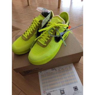 NIKE AIR FORCE 1 LOW x OFF WHITE VOLT(スニーカー)