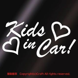 Kids in Car/ステッカー(ハート)白/14cm(車外アクセサリ)