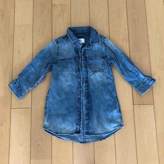 ネクスト(NEXT)のネクスト デニムシャツ ワンピース 92サイズ 未使用(ワンピース)
