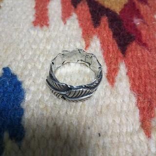 インディアン(Indian)のインディアンジュエリー ナバホ族 フェザー 羽根 スターリングシルバーリング(リング(指輪))