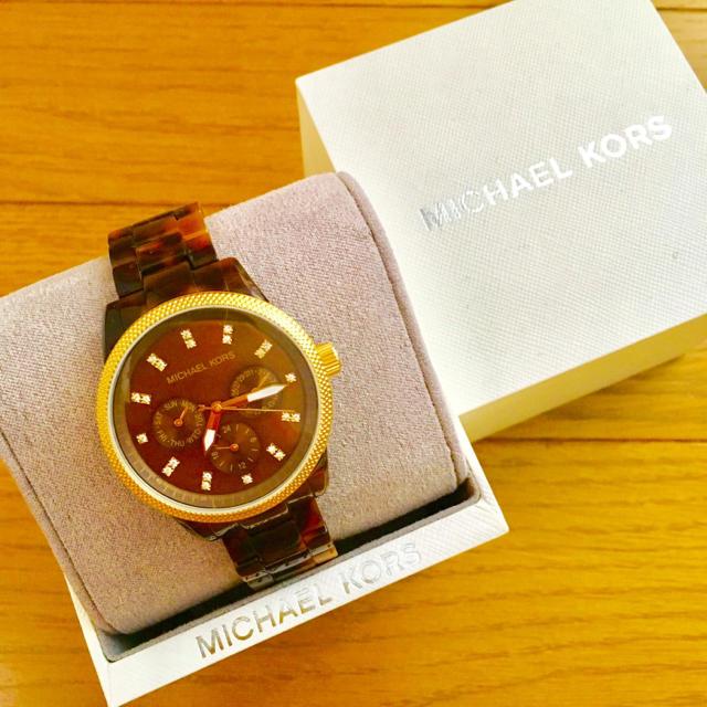Michael Kors - 【大特価!!】LADIES マイケルコース クロノグラフ腕時計 べっ甲🎀の通販 by リラックス's shop|マイケルコースならラクマ