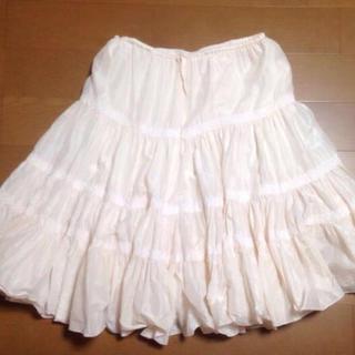 ツモリチサト(TSUMORI CHISATO)のツモリチサト シルクシフォンスカート(ひざ丈スカート)