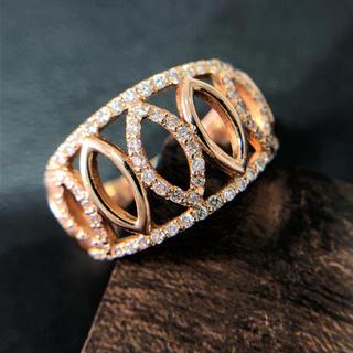 ピンクゴールド ダイヤ リング(リング(指輪))