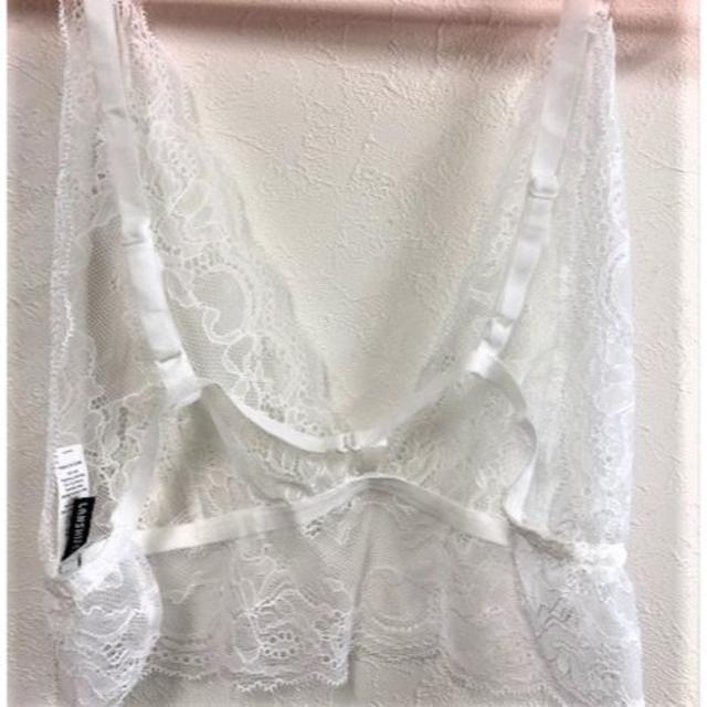 【新品】【送料無料】LLノンワイヤーブラジャー ホワイト レディースの下着/アンダーウェア(ブラ)の商品写真
