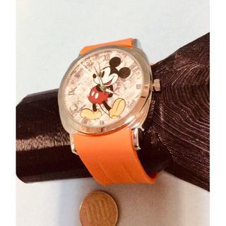 ディズニー(Disney)のI-4R)ディズニー・ミッキー電池交換済みシルバークォーツ(腕時計(アナログ))