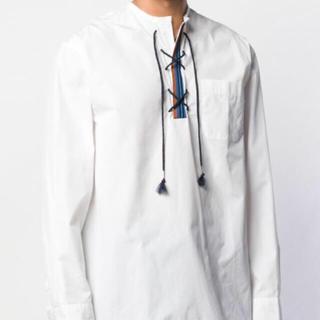 マルニ(Marni)のmarni    レースアップシャツ    ホワイト   48(Tシャツ/カットソー(七分/長袖))