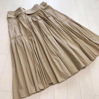 マックスマーラ(Max Mara)の美品 スポーツマックス ギャザー切替 フレアスカート 36(ひざ丈スカート)