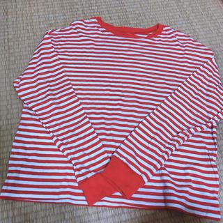 エイチアンドエム(H&M)のウォーリー Dハロ ボーダー ストライプ 赤 白(Tシャツ(長袖/七分))