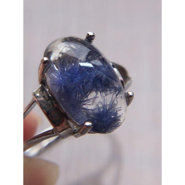 デュモルチェライトインクォーツ リング   ⑮ 青い レディースのアクセサリー(リング(指輪))の商品写真