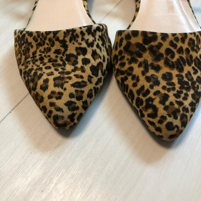 Discoat(ディスコート)のレオパード柄 スウェードパンプス レディースの靴/シューズ(ハイヒール/パンプス)の商品写真