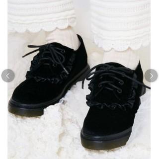 メリージェニー(merry jenny)のmerry jenny ベロアレースアップシューズ(ローファー/革靴)