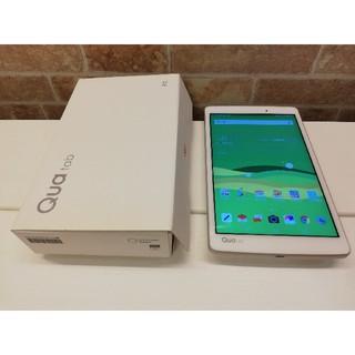 エルジーエレクトロニクス(LG Electronics)の美品 防水・防塵 8インチタブレット Qua tab PX ホワイト(タブレット)