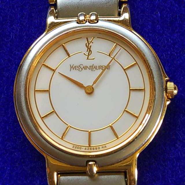Saint Laurent - ももにゃ 様  😊  YSL  イヴ・サンローラン ㊽   腕時計・稼動品✨の通販 by manma's shop|サンローランならラクマ