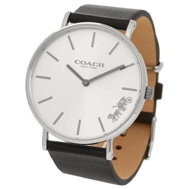 COACH - 【新品未使用】ブラック×シルバー シンプル ユニセックス 腕時計 レザーの通販 by ぴっぴshop|コーチならラクマ