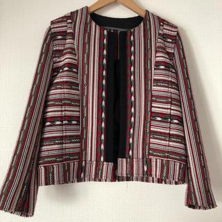 ジャーナルスタンダード(JOURNAL STANDARD)のジャガード織りジャケット(ノーカラージャケット)