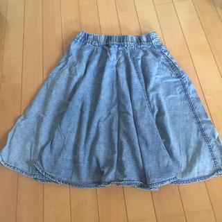ハニーズ(HONEYS)のデニム風スカート(ひざ丈スカート)