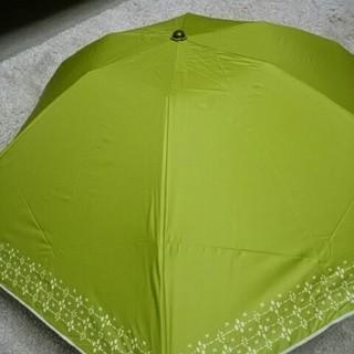 シビラ(Sybilla)の新品未使用 シビラ 雨天兼用パラソル 遮熱効果 遮光UV ライトグリーン柄コンパ(傘)
