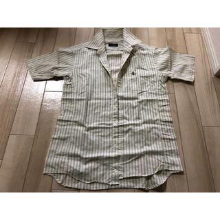 マンシングウェア(Munsingwear)のマンシング シャツ ストライプ ボーダー 半袖 黄色 イエロー(Tシャツ/カットソー(半袖/袖なし))