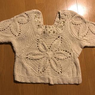 アクシーズファム(axes femme)の大きめビジュー付き セーター(ニット/セーター)