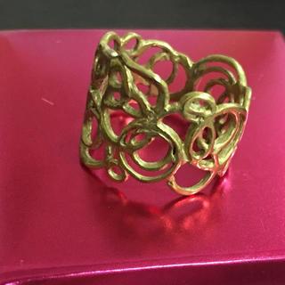 カオル(KAORU)のアトリエカオル KAORU 真鍮 水玉リング ✴︎12号(リング(指輪))