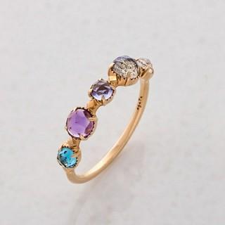 アガット(agete)の現行品 agete K10 カラーストーン リング 指輪 9号 天然石 アガット(リング(指輪))