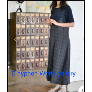 イーハイフンワールドギャラリー(E hyphen world gallery)の美品 E hyphen world galleryキャミサロペットパンツ(サロペット/オーバーオール)